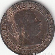 Monedas de España: ISABEL II: 1 CENTIMO DE ESCUDO 1868 OM SEGOVIA. Lote 125269595