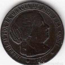 Monedas de España: ISABEL II: 1 CENTIMO DE ESCUDO 1868 OM SEVILLA. Lote 125270263