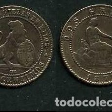 Monedas de España: ESPAÑA 2 CENTIMOS AÑO 1870 OM - MONEDA AUTENTICA ( TIO SENTADO - GOBIERNO PROVISIONAL - LEON ) Nº15. Lote 125327679