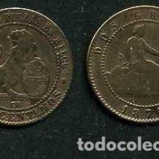 Monedas de España: ESPAÑA 2 CENTIMOS AÑO 1870 OM - MONEDA AUTENTICA ( TIO SENTADO - GOBIERNO PROVISIONAL - LEON ) Nº19. Lote 125327971