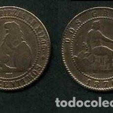 Monedas de España: ESPAÑA 2 CENTIMOS AÑO 1870 OM - MONEDA AUTENTICA ( TIO SENTADO - GOBIERNO PROVISIONAL - LEON ) Nº35. Lote 125329343