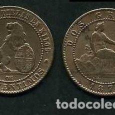 Monedas de España: ESPAÑA 2 CENTIMOS AÑO 1870 OM - MONEDA AUTENTICA ( TIO SENTADO - GOBIERNO PROVISIONAL - LEON ) Nº37. Lote 125329623