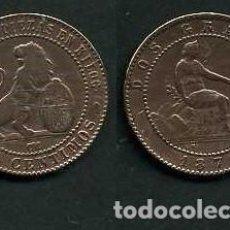 Monedas de España: ESPAÑA 2 CENTIMOS AÑO 1870 OM - MONEDA AUTENTICA ( TIO SENTADO - GOBIERNO PROVISIONAL - LEON ) Nº45. Lote 125333807