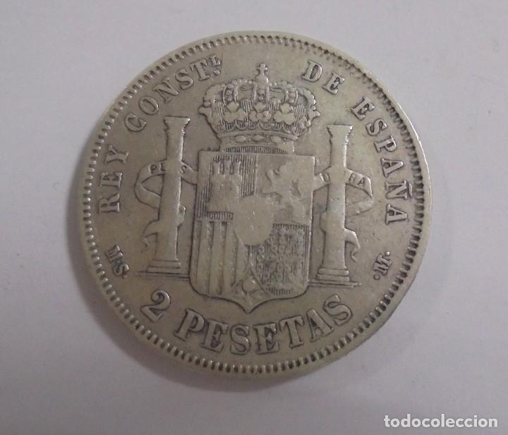 Monedas de España: MONEDA. 2 PESETAS. 1882. ALFONSO XII. VER - Foto 2 - 125387515