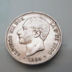 Monedas de España: MONEDA 5 PESETAS 1884 *18 84 PLATA 24,87GR. ALFONSO XII. Lote 125400016