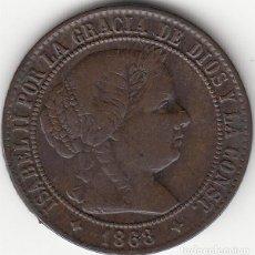 Monedas de España: ISABEL II: 2 1/2 CENTIMO ESCUDO 1868 OM JUBIA. Lote 125914743