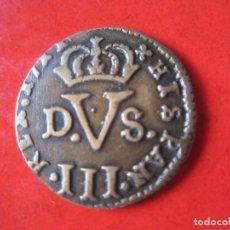 Monnaies d'Espagne: FELIPE V. TRESETA ACUÑADA EN 1711 VALENCIA. #MN. Lote 126011119