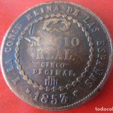 Monedas de España: ISABEL II.- 1/2 REAL. 1853 SEGOVIA.. Lote 126049743