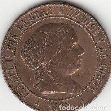 Monedas de España: ISABEL II: 5 CENTIMOS DE ESCUDO 1868 SEGOVIA. Lote 126355371