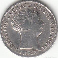 Monedas de España - ISABEL II: 1 REAL 1853 BARCELONA - 126450611