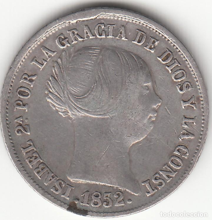 ISABEL II: 2 REALES 1852 SEVILLA (Numismática - España Modernas y Contemporáneas - De Isabel II (1.834) a Alfonso XIII (1.931))