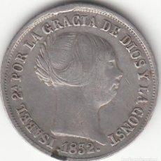 Monedas de España: ISABEL II: 2 REALES 1852 SEVILLA. Lote 126727351