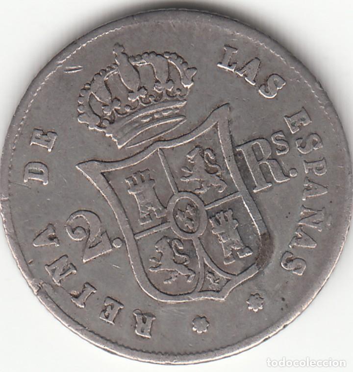 Monedas de España: ISABEL II: 2 REALES 1852 SEVILLA - Foto 2 - 126727351