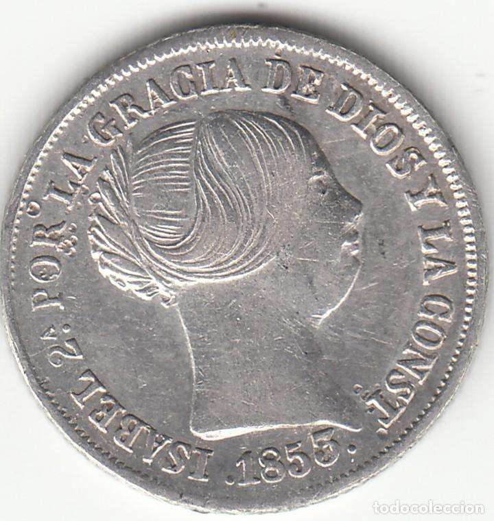 ISABEL II: 2 REALES 1853 SEVILLA (Numismática - España Modernas y Contemporáneas - De Isabel II (1.834) a Alfonso XIII (1.931))