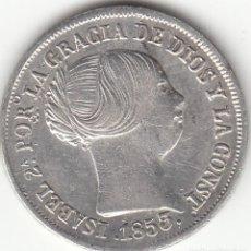 Monedas de España: ISABEL II: 2 REALES 1853 SEVILLA. Lote 126735967