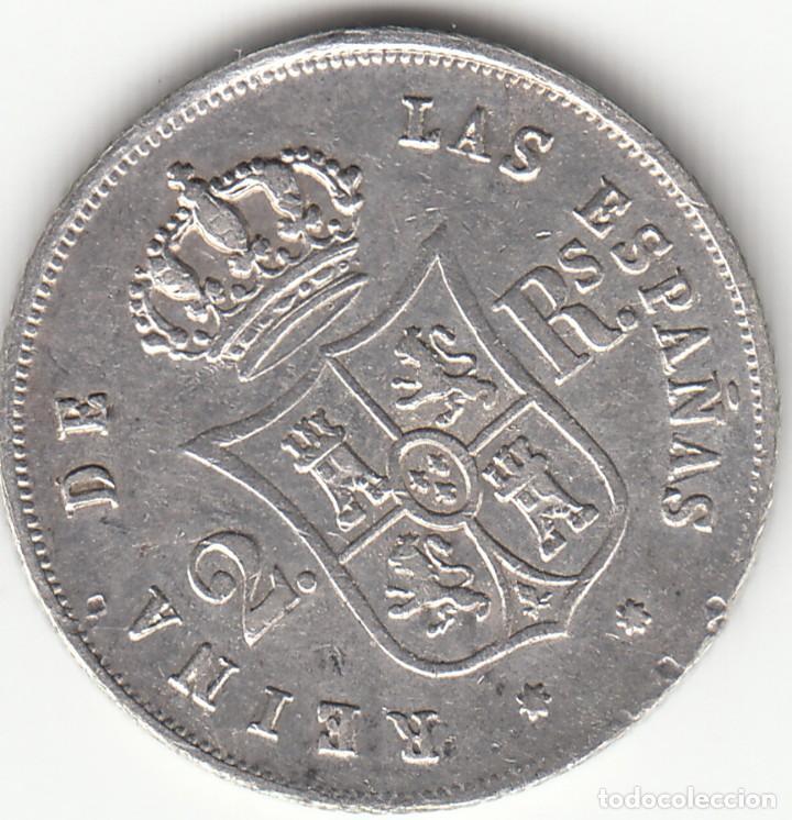 Monedas de España: ISABEL II: 2 REALES 1853 SEVILLA - Foto 2 - 126735967