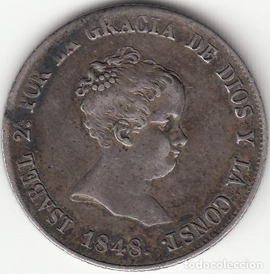ISABEL II: 4 REALES 1848 CL MADRID (Numismática - España Modernas y Contemporáneas - De Isabel II (1.834) a Alfonso XIII (1.931))