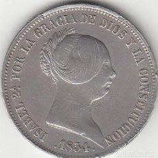 Monedas de España: ISABEL II: 20 REALES 1854 SEVILLA. Lote 126784931