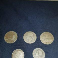 Monedas de España: LOTE DE CINCO MONEDAS DEL GOBIERNO PROVISIONAL ALFONSO XII Y ALFONSO XIII. Lote 126825688