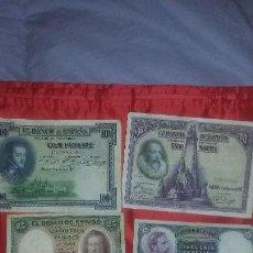 Monedas de España: ANTIGUOS BILLETES DE PESETAS DISTINTOS AÑOS. Lote 126912895