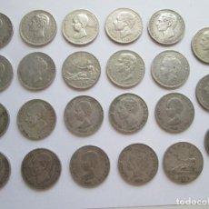 Monedas de España: ALFONSO XII Y XIII * LOTE DE 23 DUROS DE PLATA. Lote 127532787