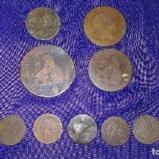 Monedas de España: LOTE ANTIGUAS MONEDAS ESPAÑOLAS. Lote 127536775