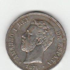 Monedas de España: AMADEO I- 5 PESETAS-1871*18-71-SDM. Lote 127765171