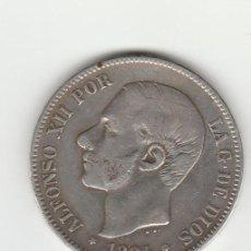 Monedas de España: ALFONSO XII- 5 PESETAS- 1884-18-84 MSM. Lote 127765275