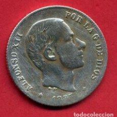 Monedas de España: MONEDA PLATA, ALFONSO XII , 20 CENTAVOS MANILA 1885 FILIPINAS , MBC ,ORIGINAL , B17. Lote 128280707