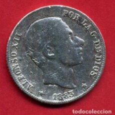 Monedas de España: MONEDA PLATA, ALFONSO XII , 20 CENTAVOS MANILA 1883 FILIPINAS , MBC- ,ORIGINAL , B17. Lote 128280839
