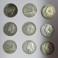 Monedas de España: 12 MONEDAS DE 5 PESETAS DE PLATA GOBIERNO PROVISIONAL, AMADEO I Y ALFONSO XIII LOTE-1124. Lote 128425063
