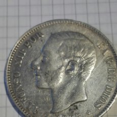 Monedas de España: MONEDA 5 PESETAS ALFONSO XII 1885 *18*87 MSM. Lote 128664524