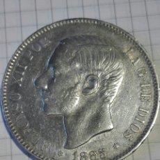 Monedas de España: MONEDA 5 PESETAS ALFONSO XII 1885 *18*87 MSM. Lote 128665107