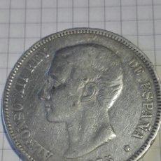 Monedas de España: MONEDA 5 PESETAS ALFONSO XII 1875 *--*75 DEM. Lote 128666636