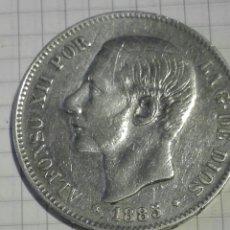 Monedas de España: MONEDA 5 PESETAS ALFONSO XII 1885 *18*87 MSM. Lote 128668026