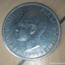 Monedas de España: 5 PESETAS ALFONSO XIII,1899 SG-V.EBC+++.BRILLO ORIGINAL.PRECIOSA Y PERFECTA!RARA Y CARA.MIRAD Y LEED. Lote 128699299