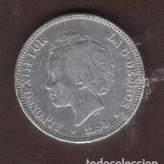 Monedas de España: ALFONSO XIII.5 PESETAS PLATA.1894 PGV.CONSERVACIÓN MBC. Lote 128708515