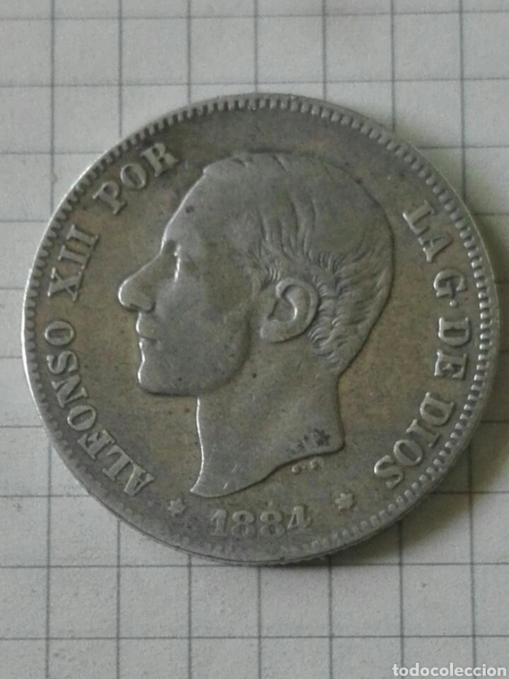 MONEDA 2 PESETAS ALFONSO XII 1884 MSM (Numismática - España Modernas y Contemporáneas - De Isabel II (1.834) a Alfonso XIII (1.931))