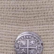 Monedas de España: RARO MEDIO REAL DE FELIPE IV AÑO 1627 SEGOVIA. ACUÑADO A RODILLO. FECHA MUY CLARA.. Lote 128881828
