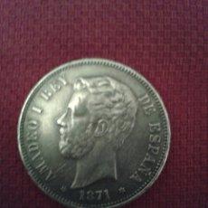 Monedas de España: MONEDA AMODEO I PLATA. Lote 129394494