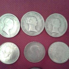 Monedas de España: LOTE DE SIETE MONEDAS ANTIGUAS VARIAS. Lote 129394524
