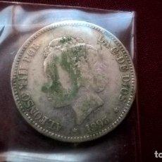 Monedas de España: DURO DE 5 PESETAS FALSO DE ÉPOCA. PLATA. DURO SEVILLANO. 1893 PGM. Lote 129437823