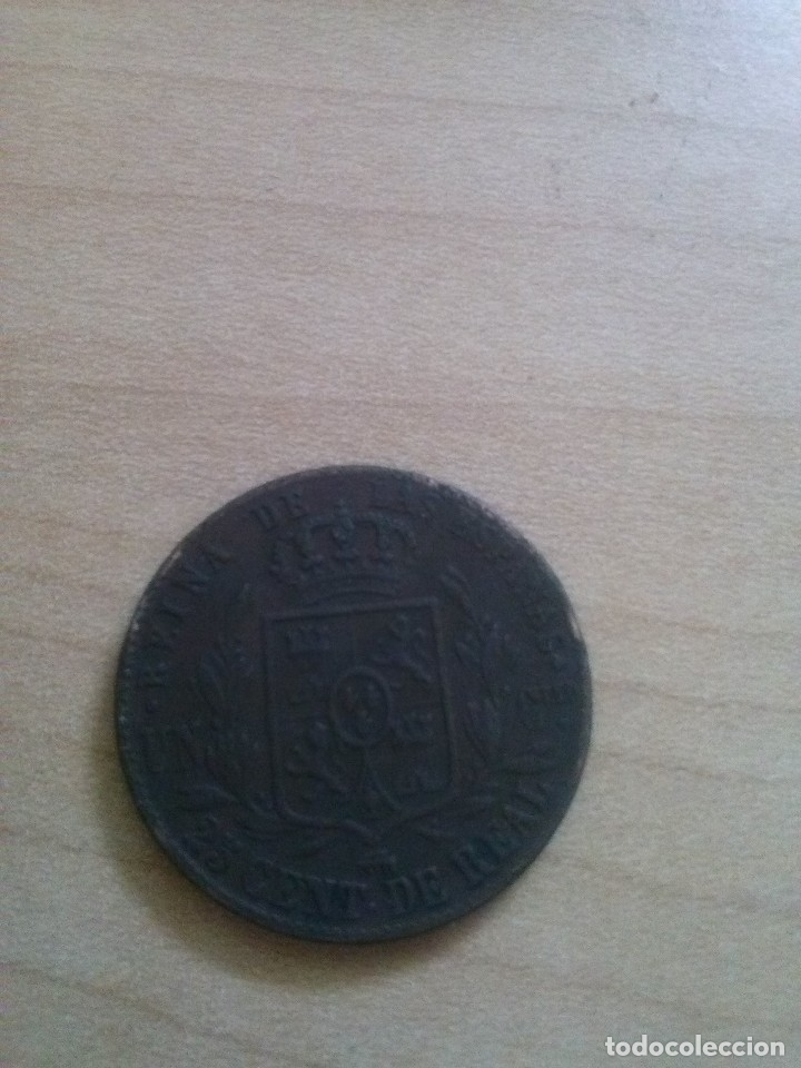 Monedas de España: MONEDA DE 25 CENTIMOS DE REAL = UN CUARTILLO isabel II 1859 - Foto 2 - 129503719