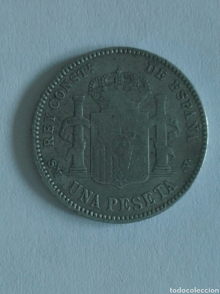 Monedas de España: MONEDA ALFONSO XIII 1 peseta 1900.MBC - Foto 2 - 129573686