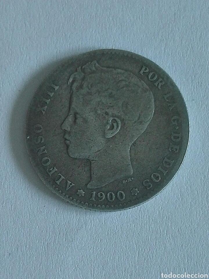 MONEDA ALFONSO XIII 1 PESETA 1900.MBC (Numismática - España Modernas y Contemporáneas - De Isabel II (1.834) a Alfonso XIII (1.931))