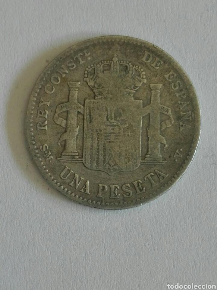 Monedas de España: MONEDA ALFONSO XIII 1 PESETA 1900.MBC - Foto 2 - 129648479