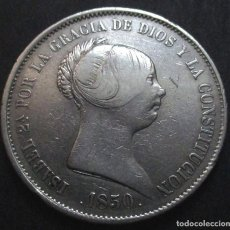 Monedas de España: 20 REALES 1850 MADRID (ESTRELLAS 6 PUNTAS) ISABEL II -PLATA-. Lote 129659107