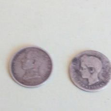 Monedas de España: DOS MONEDAS DE PLATA ALFONSO XIII. Lote 130429815