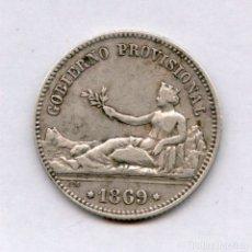 Monedas de España: 1 PESETA DE PLATA AÑO 1869 GOBIERNO PROVISIONAL EXCELENTE CONSERVACION. Lote 54039859