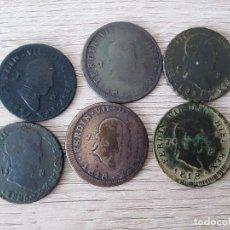 Monedas de España: LOTE DE 6 MONEDAS DE 8 MARAVEDIS DE FERNANDO VII. Lote 200572175